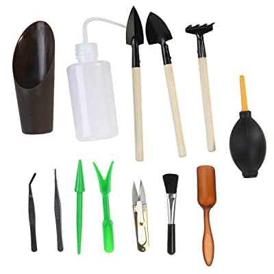 OUNONA 13 PCS Succulent Transplanting Tool Mini Garden Hand Tools Set for Indoor Garden Plant Care Miniature Planting Gardening Tool Set : Garden & Outdoor