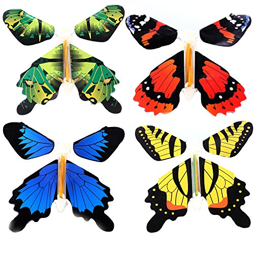 Flyers Game Card - Gmai Flying Butterfly - Classic Wind Up Swallowtail Butterfly - Close Up Magic Set of (4p)