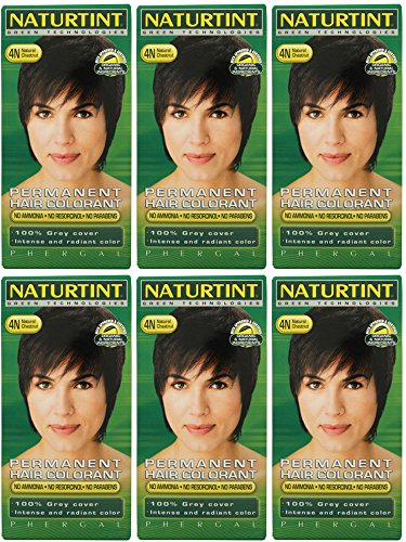(6 PACK) - Naturtint - Hair Dye - 4N Natural Chestnut | 135ml | 6 PACK BUNDLE