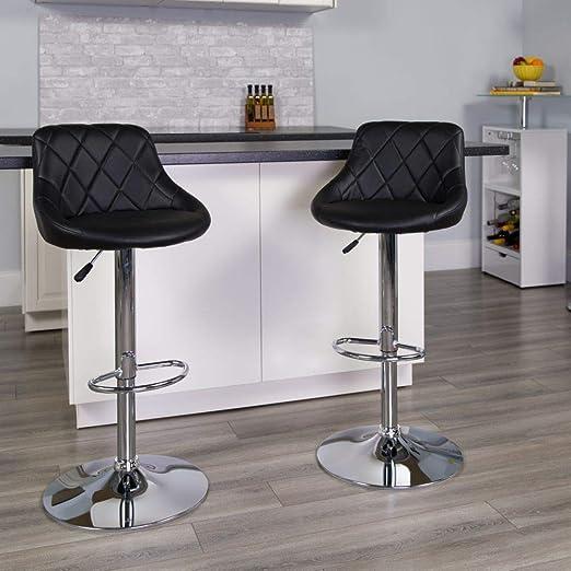 Amazon Com Flash Furniture Ch 82028a Bk Gg Asiento De Vinilo