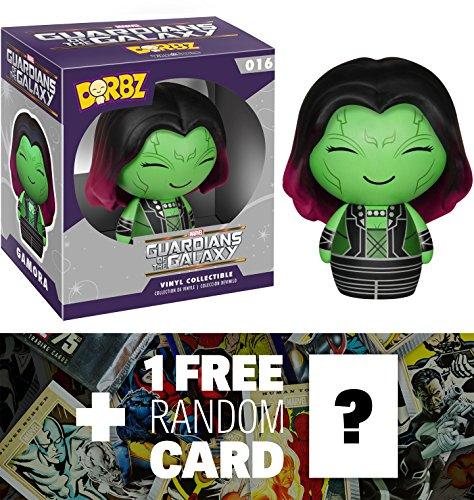 Gamora: Funko Dorbz x Guardians of the Galaxy Mini Vinyl Figure + 1 FREE Official Marvel Trading Card Bundle [59385]