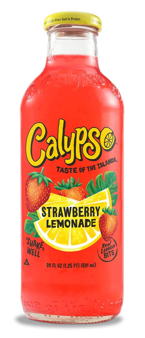 Calypso Lemonades Strawberry Lemonade, Strawberry, 20 Fluid Ounce (Pack of 12) by Calypso Lemonades