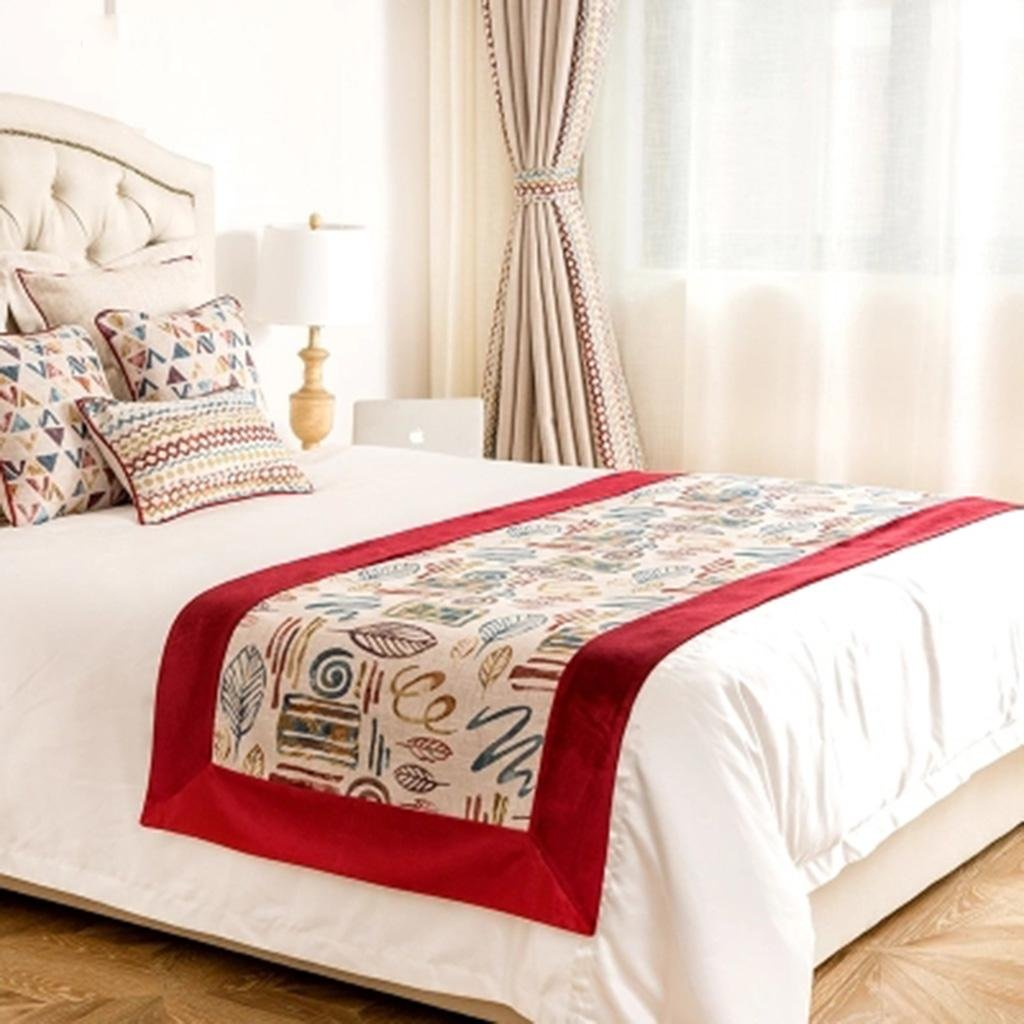 X&Y Household Decoration Cloth Bed Scarf Hotel Bed Towel Bed Flag , 1.8m