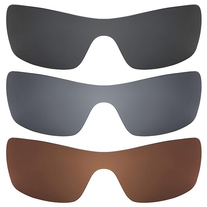 Revant Combo de 3 pares de lentes polarizados, de reemplazo, para Oakley Batwolf K016