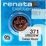 Renata 1 x SR920SW 371 - 1.55V Silver Oxide Button Cell Watch Battery Batteries - BRAND NEW in Factory Packaging
