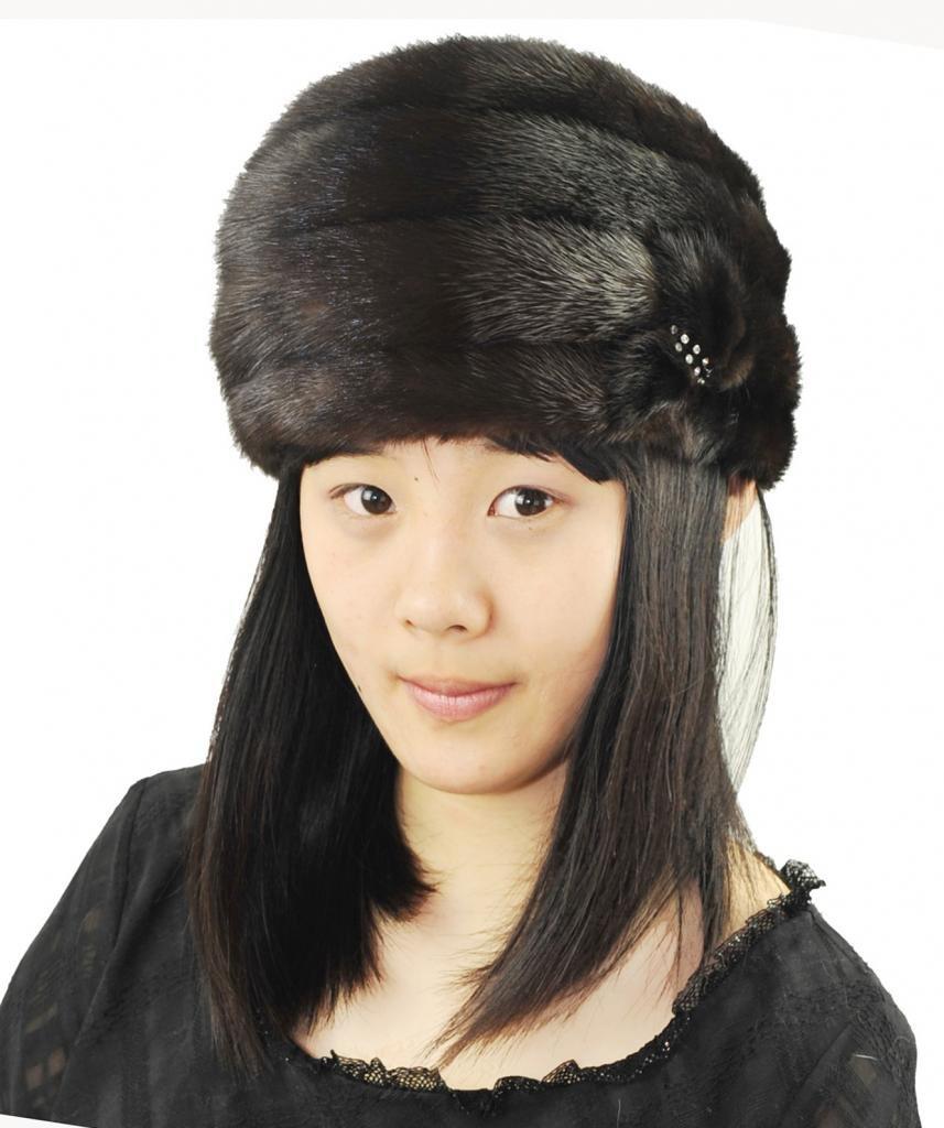CX FUR Women Fur Caps And Hats Genuine Mink Fur Caps by CX FUR