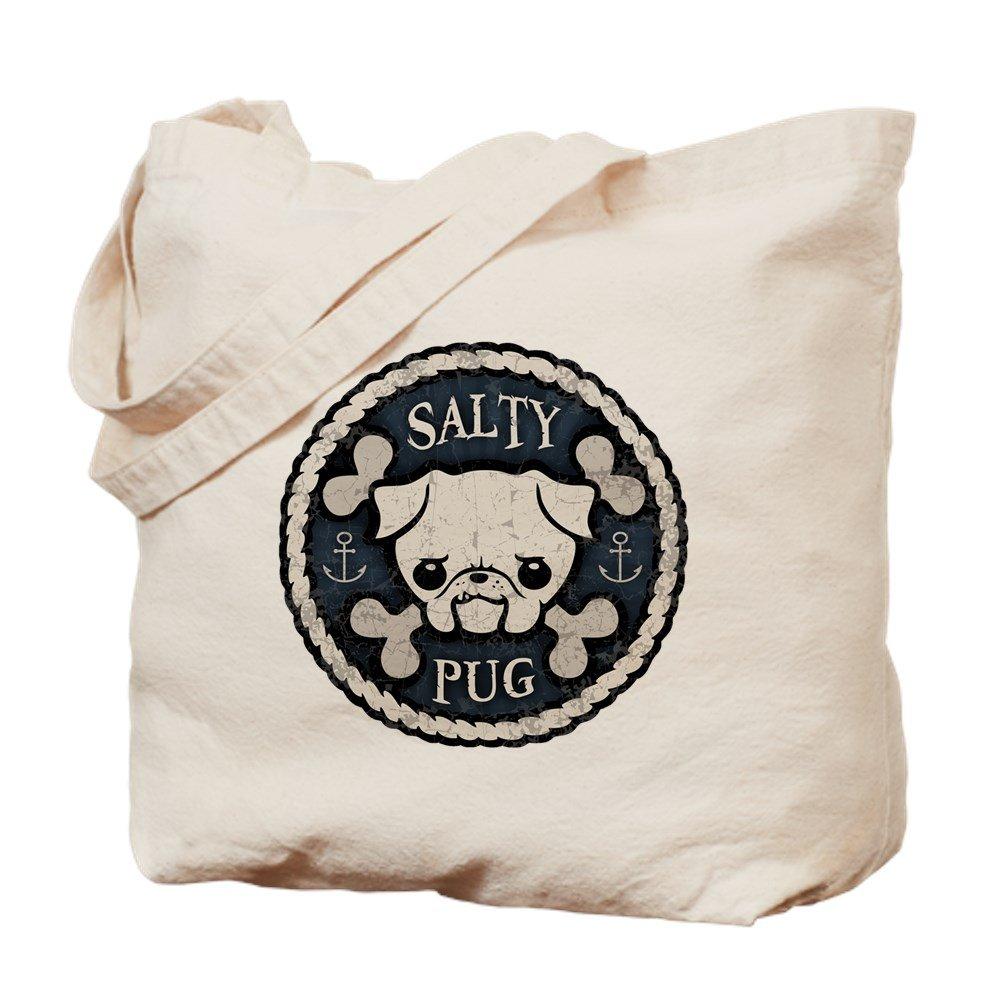 CafePress – Saltyパグ – ナチュラルキャンバストートバッグ、布ショッピングバッグ B00WJE4EES