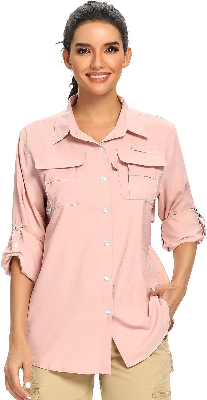 GOLDPKF Damen UPF 50 Sonnenschutz Hoodie Shirts Langarm Outdoor Rashguards