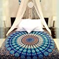 Wall Hanging Cotton Tapestry Bohemian Bed Spread Table Top Cover Bedsheet Coverlet. King Size Bed throw