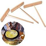 1 Pcs Crepe Dough Spreader Bamboo Pancake Scraper Pancake Spreader Stick,L Size