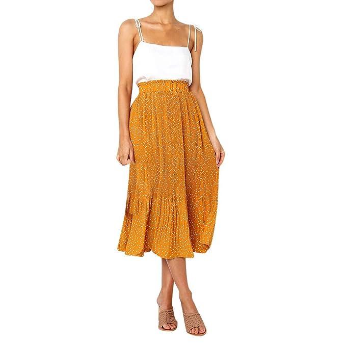 Falda para Mujer, Lenfesh Falda Larga de Estampada Floral Vintage ...