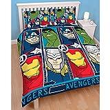 captain america comforter full - Marvel Avengers Tech Double/US Full Rotary Duvet Cover (DMATEHDD001)