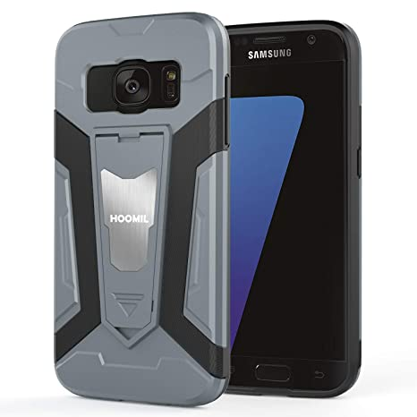 HOOMIL Resistente Funda para Samsung Galaxy S7, Shock-Absorción Silicona Carcasa para Samsung Galaxy S7 Case Cover - Gris (H3362)