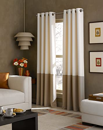 window new fashion block covering insulated color curtains room colorblock thermal nicetown grommet tones for living drapery blackout item bedroom