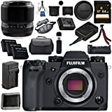 Fujifilm X-H1 Mirrorless Digital Camera (Body Only) 16568731 60mm f/2.4 XF Macro Lens 16240767 VPB-XH1 Vertical Power Booster Grip Bundle