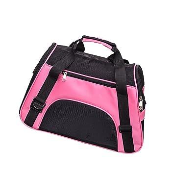 Ndier Bolso de Transporte Transpirable para Perros y Gatos de, Color Rosa, tamaño Large: Amazon.es: Deportes y aire libre