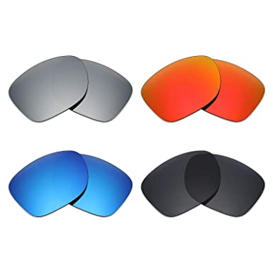 5e551e2dab Image Unavailable. Image not available for. Color  Mryok 4 Pair Polarized  Replacement Lenses for Oakley Catalyst Sunglass - Stealth Black Fire Red