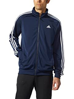 6b1a8c74e001 adidas Men s Essential 3 Stripe Tricot Track Jacket