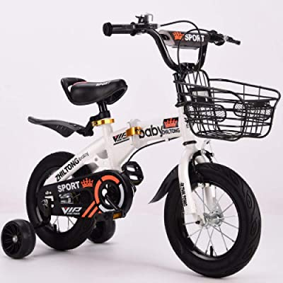 LINGS Foldable Bicycle Kids' Bikes 18 inch 2-5-6-9 Years Old boy Female Treasure Bicycle Folding Children Bicycle: Home & Kitchen