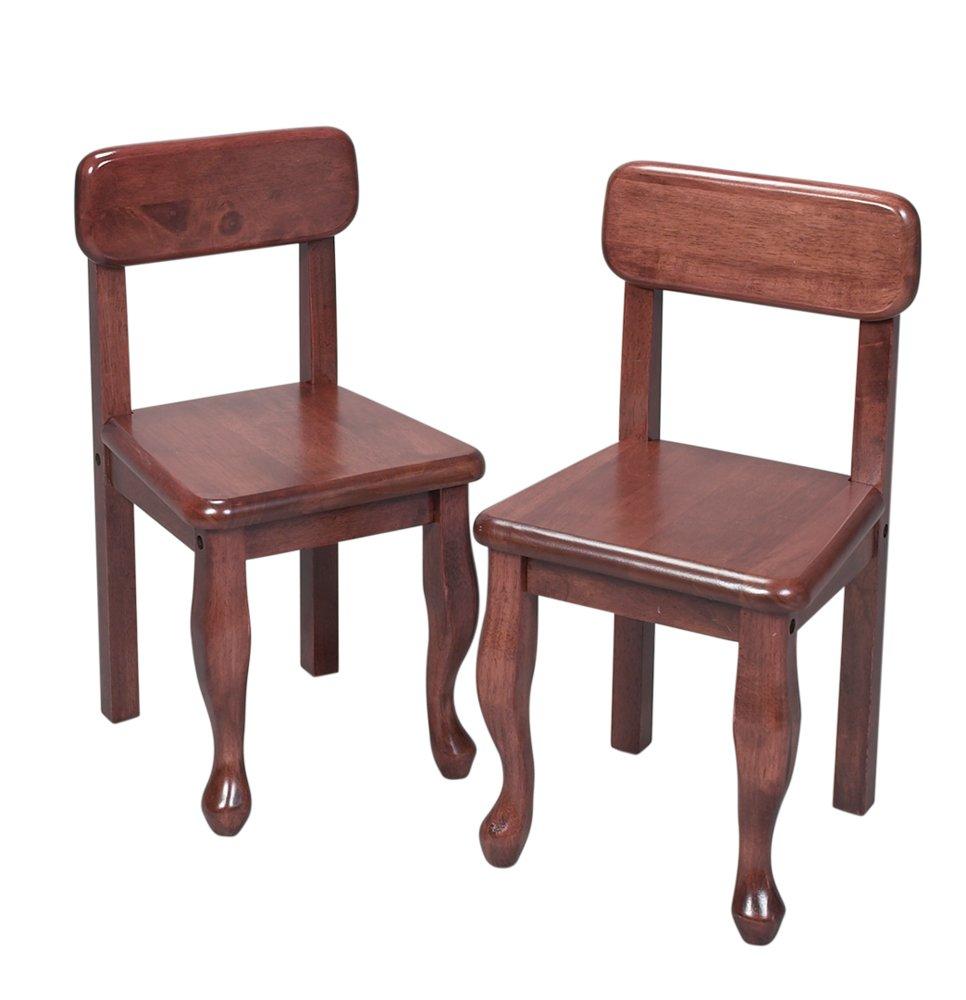 amazon com gift mark queen anne children s chair set cherry baby