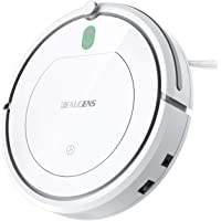 Robot Vacuum Cleaner For Tiles And Hardwood Floors with Slim Design (White)