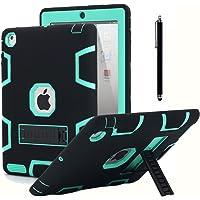 AICase - Funda para iPad 2, iPad 3, iPad 4, resistente a los golpes, de goma resistente a los impactos, híbrida, de tres…
