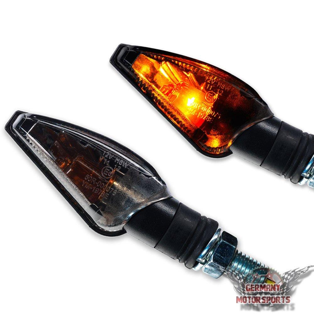 Halogen Mini Blinker universal Toledo Motorradblinker Motorrad Harley Honda schwarz Smoke get/önt