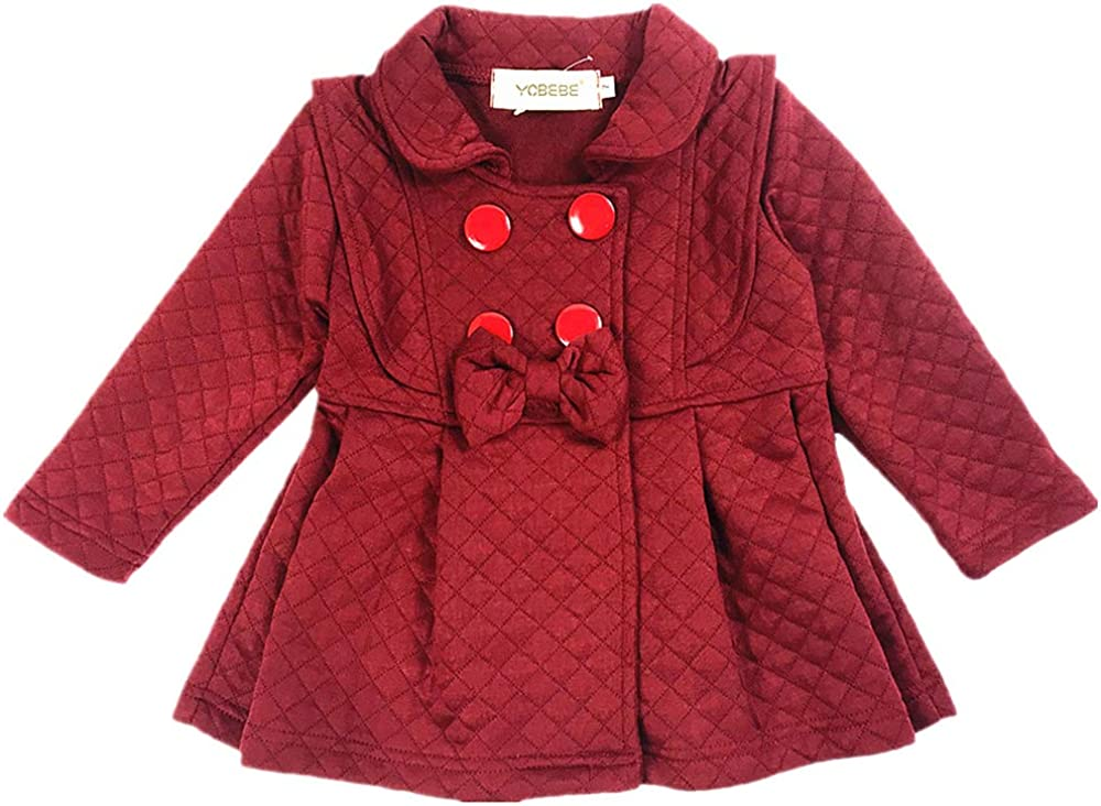 YOBEBE Baby Girl Trench Coat Jacket Spring Autumn Clothes for Babies