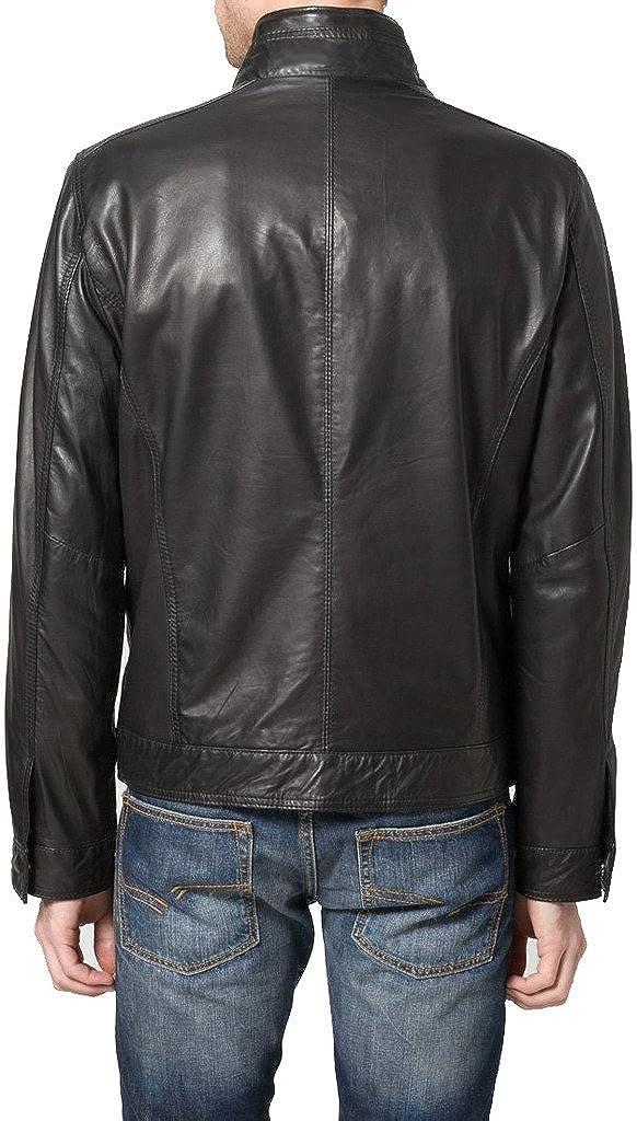 New Men Genuine Sheep Leather Slim Fit Biker Jacket LF376