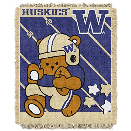 The Northwest Company Washington Huskies Fullback Baby Triple Woven Jacquard Throw