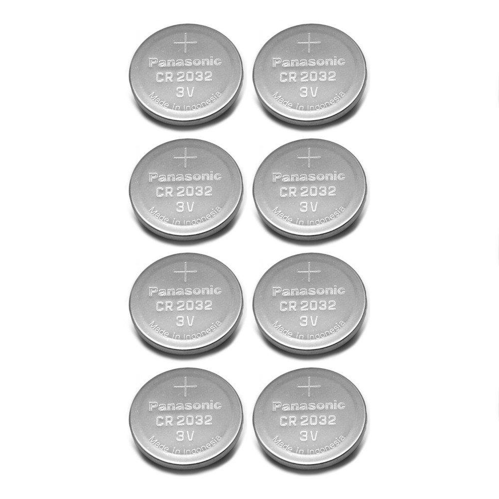 Panasonic CR2032 3V Lithium Coin Battery (Pack of 8)