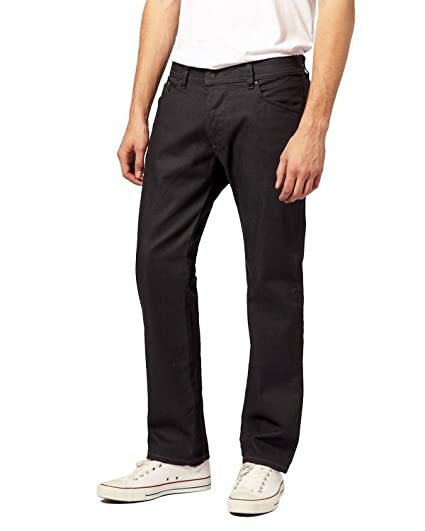 a3aa20f4 Amazon.com: Diesel - Men's Jeans Darron 64U - Regular Slim - Tapered -  Stretch - Black, W27 / L32: Clothing
