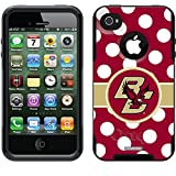 Coveroo Boston College Polka Dots Design Phone Case for iPhone 4s/4 - Retail Packaging - Black