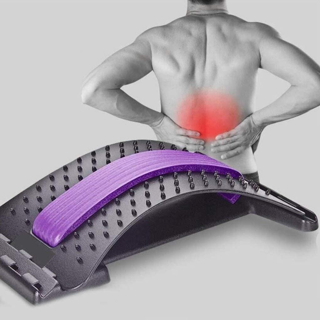 DJFT Pilates Spinal Aligner Spine Massage Lumbar Support Supine Board Be For Lumbar Back Pain Or Back Pain Caused Neck Pain Home Fitness Equipment