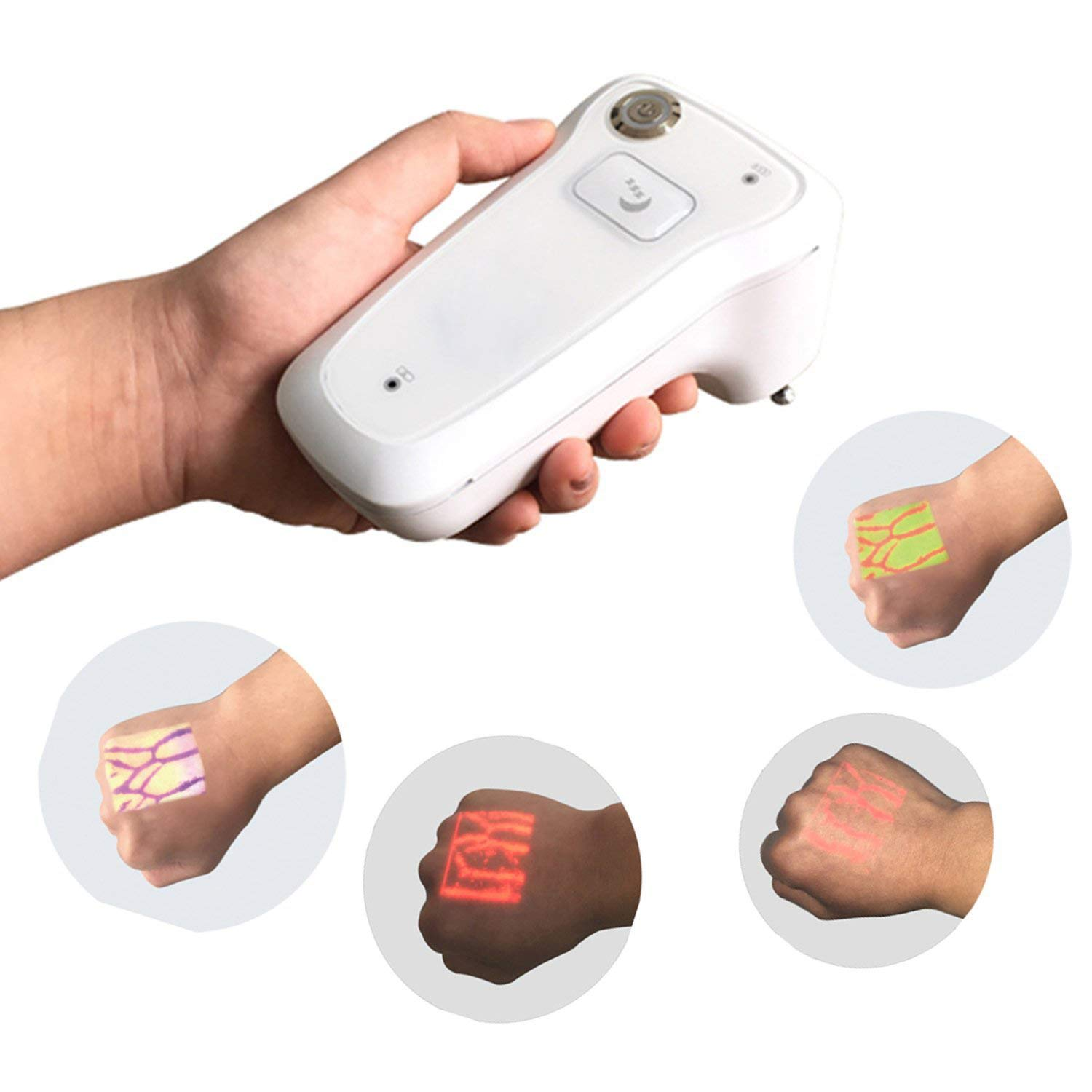 Infrared Scanning Blood Vessel Detector Portable Vein Viewer Detector Locator Illumination Visualization Lights for IV Phlebotomy Venipuncture Support