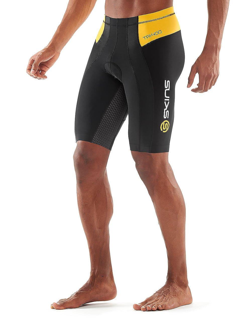 f158cd56da Amazon.com : Skins Men's Tri400 Compression Triathlon Shorts : Clothing