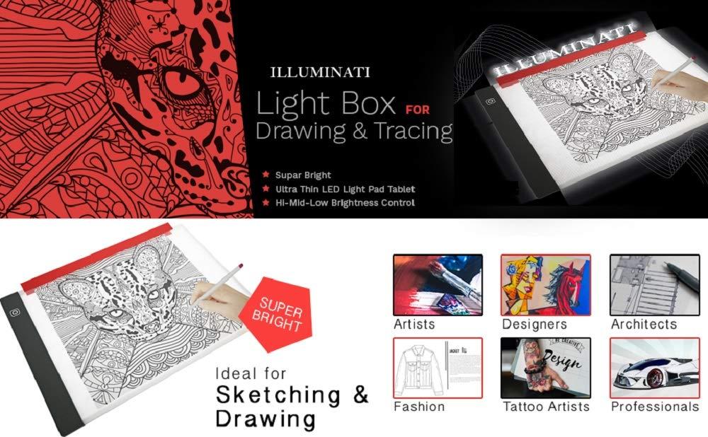Caja de luz para Dibujar y rastrear ~ Viene con A4 Tracing Paper ...