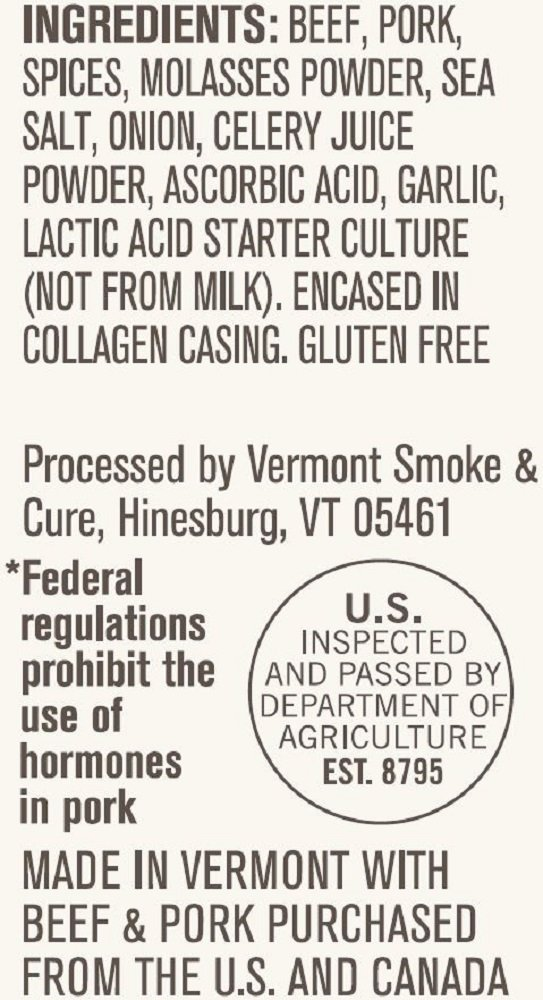 Vermont Smoke & Cure Meat Sticks, Beef & Pork, Antibiotic Free, Gluten Free, Chipotle, 1oz Stick, 24 Count by Vermont Smoke and Cure (Image #6)