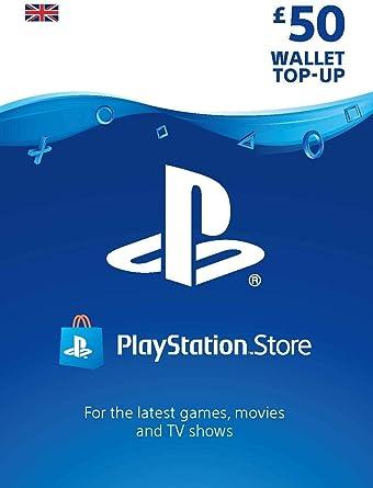 PlayStation PSN Card 50 GBP Wallet Top Up | PSN Download Code - UK