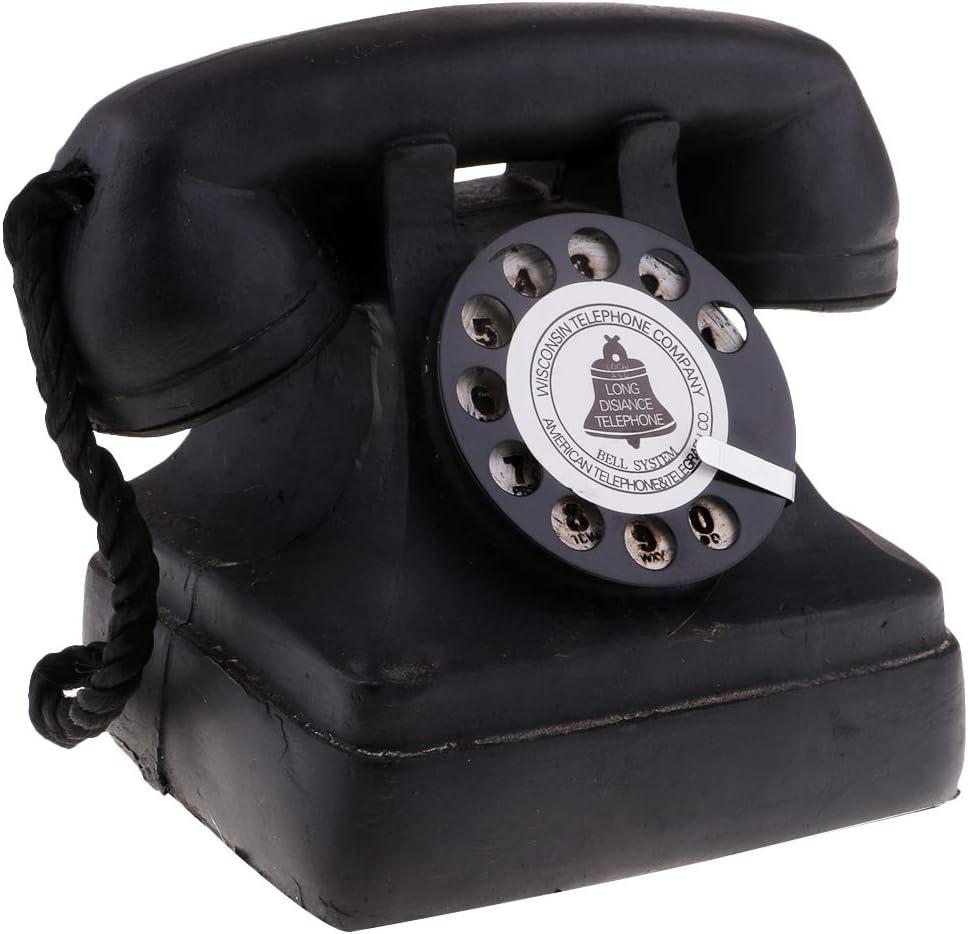 Perfeclan European Antique Vintage Rotary Retro Dial Corded Candlestick Telephones 10 x 10 x 20cm 7111-13