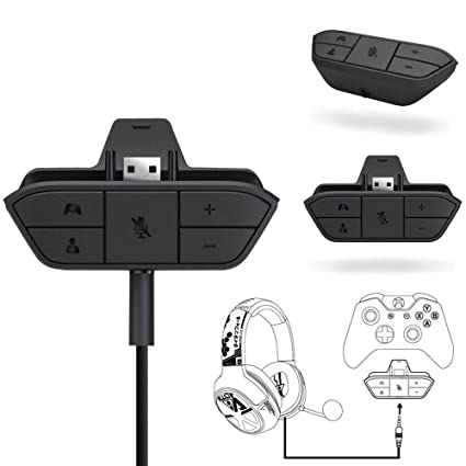 a3aa41d4248 Amazon.com: BabiQ for Microsoft Xbox One Controller DR Stereo Headset  Headphone Audio Game Adapter: Sports & Outdoors