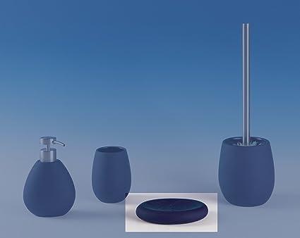 Sanwood 6631875 Susa SUAVE AL TACTO Jabonera azul, único Experiencia táctil