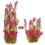 JoyJon Artificial Aquarium Plants Plastic Fish Tank Aquascaping Decorations Water Aquatic Plants (Purple)