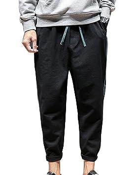 LaoZanA Pantalones Harem Hombre Cintura Elástica Elasticos Baggy Pantalones Hippies Tamaño Grande Armada L qkJHnbuT
