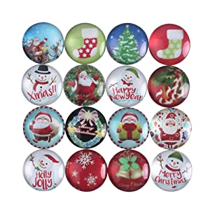 Zicome Set of 16 Refrigerator Magnets for Christmas Party Favor Gifts