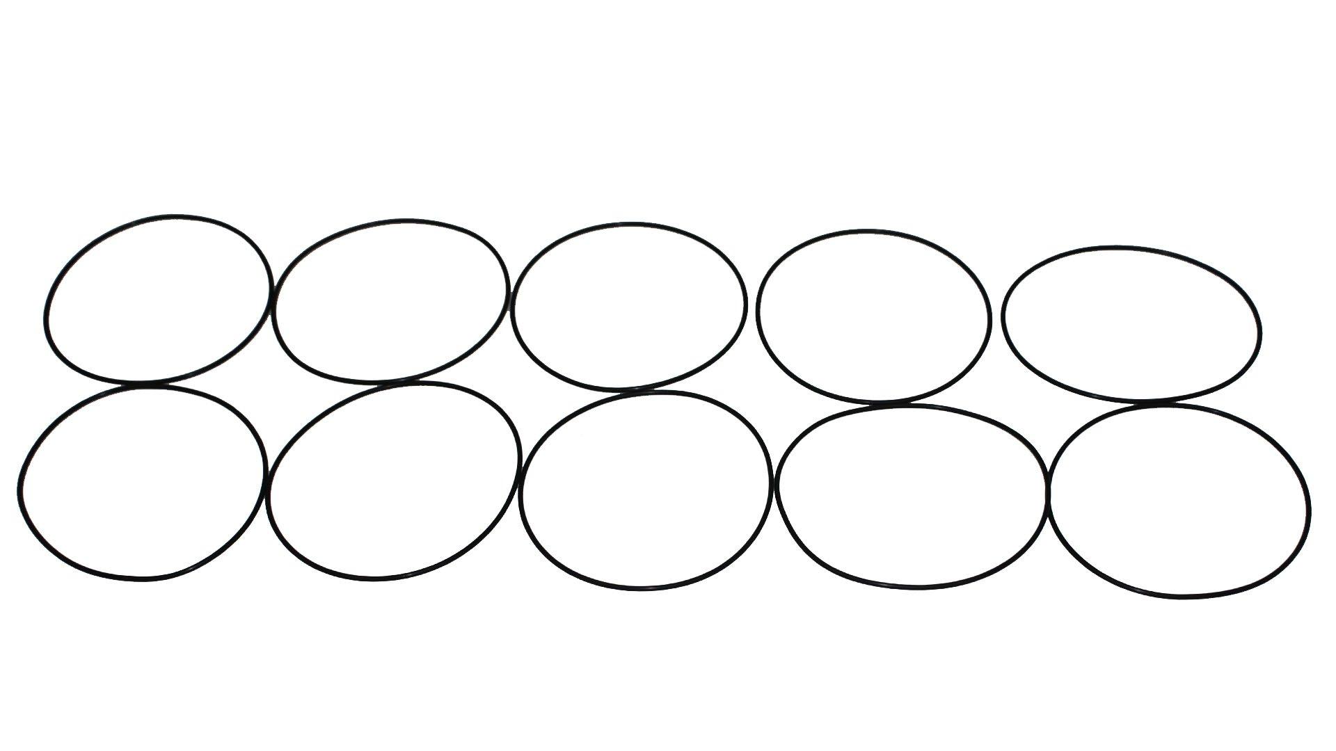 Sterling Seal ORVT345x10 Viton Number-345 Standard O-Ring, Fluoropolymer Elastomer, 70 Durometer Hardness, 4'' ID, 4-3/8'' OD (Pack of 10)