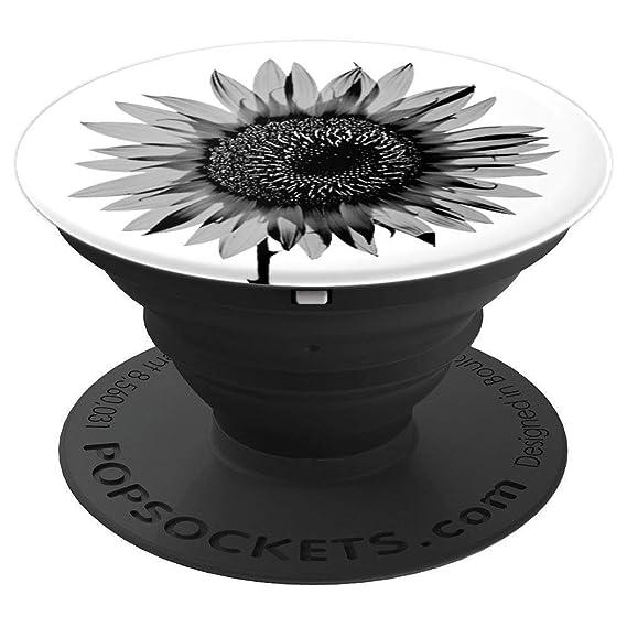 Amazoncom Black And White Sunflower Pop Socket Sunflower Lovers
