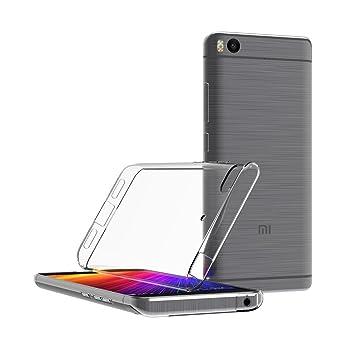 Funda Xiaomi Mi 5s, Y-ouni Ultra Transparente Xiaomi Mi 5s Carcasa Funda Suave Flexible Extremadamente Delgada piel Resistente a los Arañazos silicona ...