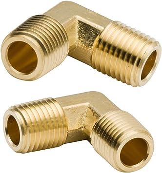 """Brass Elbow 1//2/"""" Female NPT to 1//2/"""" Female NPT 3 Pack"""