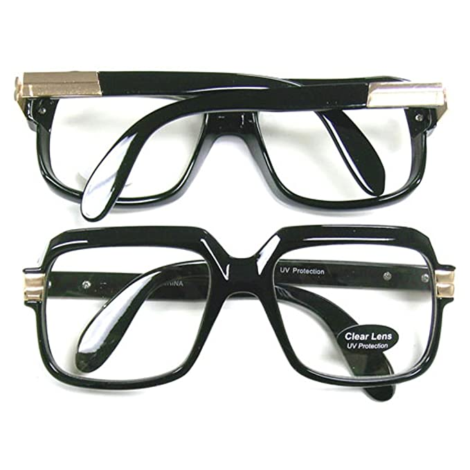1dfb8e8b8b12 Amazon.com  Oversized Black Hip Hop Glasses  Clothing